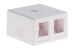 Keystone Surface Mount Box, 2 Port, White