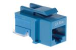 Cat5e Tool Less RJ45 Keystone Jack, Blue