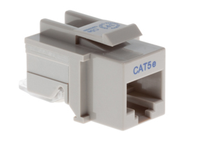 Cat5e Tool Less RJ45 Keystone Jack, Gray