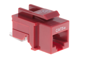 Cat5e Tool Less RJ45 Keystone Jack, Red