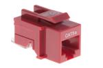 Cat5e Tool Less RJ45 Keystone Jack, Red