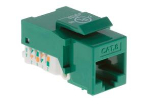 Cat6 Tool Less RJ45 Keystone Jack, Green