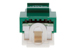 Cat6 Tool Less RJ45 Keystone Jack, Green