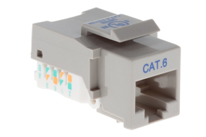 Cat6 Tool Less RJ45 Keystone Jack, Gray