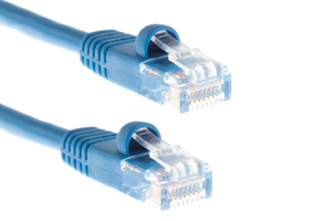 CAT5e Ethernet Patch Cable, Snagless, 7 Foot, Blue