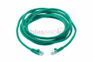 CAT5e Ethernet Patch Cable, Snagless, 10 Foot, Green