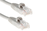 CAT5e Ethernet Patch Cable, Snagless, 1 Foot, Gray