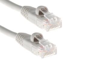 CAT5e Ethernet Patch Cable, Snagless, 6 Foot, Gray