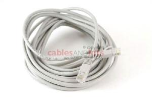 CAT5e Ethernet Patch Cable, Snagless, 20 Foot, Gray