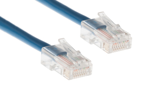 CAT5e Ethernet Patch Cable, Non-Booted, 100 Foot, Blue