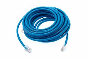 CAT5e Ethernet Patch Cable, Non-Booted, 20 Foot, Blue