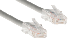 CAT5e Ethernet Patch Cable, Non-Booted, 10 Foot, Gray