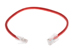 CAT5e Ethernet Patch Cable, Non-Booted, 1Foot, Red