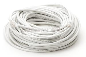 CAT5e Ethernet Patch Cable, Non-Booted, 75 Foot, White