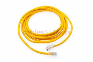 CAT5e Ethernet Patch Cable, Non-Booted, 10 Foot, Yellow