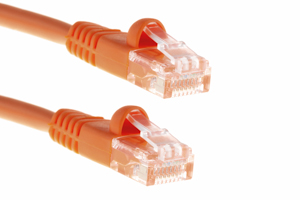 CAT5e Ethernet Patch Cable, Snagless, 7 Foot, Orange
