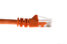 Cat5e Crossover Ethernet Patch Cable, Snagless, 7', Orange