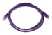 CAT5e Ethernet Patch Cable, Booted, 4ft, Purple