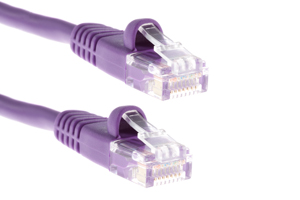 CAT5e Ethernet Patch Cable, Snagless, 75 Foot, Purple
