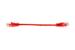 CAT5e Ethernet Patch Cable, Snagless, 0.5 Foot, Red