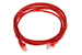 CAT5e Ethernet Patch Cable, Snagless, 6 Foot, Red