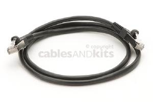 CAT5e Shielded Ethernet Patch Cable, Snagless, 3 Foot, Black