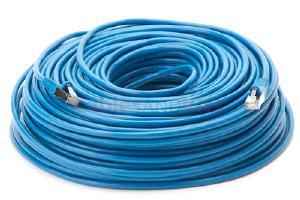CAT5e Shielded Ethernet Patch Cable, Snagless, 200 Foot, Blue