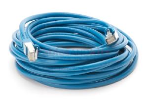 CAT5e Shielded Ethernet Patch Cable, Snagless, 20 Foot, Blue