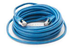 CAT5e Shielded Ethernet Patch Cable, Snagless, 25 Foot, Blue