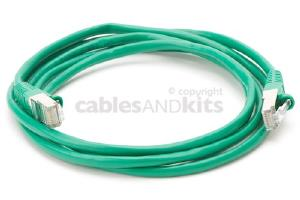 CAT5e Shielded Ethernet Patch Cable, Snagless, 6 Foot, Green