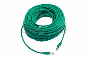 CAT5e Shielded Ethernet Patch Cable, Snagless, 100 Foot, Green