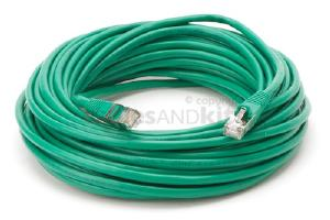 CAT5e Shielded Ethernet Patch Cable, Snagless, 50 Foot, Green