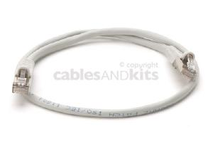 CAT5e Shielded Ethernet Patch Cable, Snagless, 2 Foot, Gray