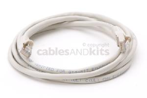 CAT5e Shielded Ethernet Patch Cable, Snagless, 6 Foot, Gray
