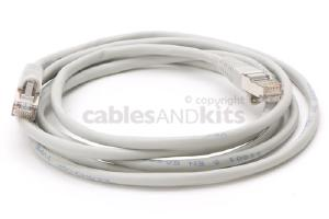 CAT5e Shielded Ethernet Patch Cable, Snagless, 7 Foot, Gray