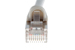 CAT5e Shielded Ethernet Patch Cable, Snagless, 75 Foot, Gray
