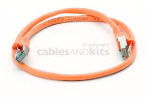 CAT5e Shielded Ethernet Patch Cable, Snagless, 2 Foot, Orange
