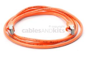 CAT5e Shielded Ethernet Patch Cable, Snagless, 5 Foot, Orange