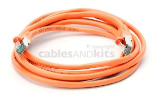CAT5e Shielded Ethernet Patch Cable, Snagless, 7 Foot, Orange