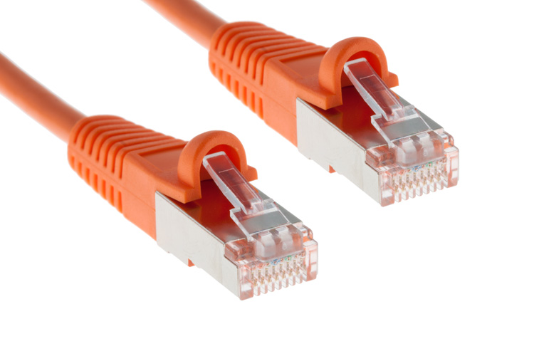 CAT5e Shielded Ethernet Patch Cable, Snagless, 20 Foot, Orange