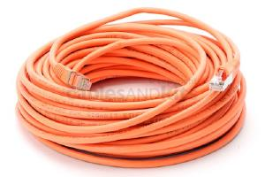 CAT5e Shielded Ethernet Patch Cable, Snagless, 75 Foot, Orange