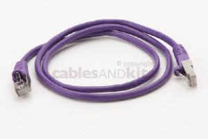 CAT5e Shielded Ethernet Patch Cable, Snagless, 3 Foot, Purple
