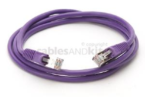 CAT5e Shielded Ethernet Patch Cable, Snagless, 5 Foot, Purple