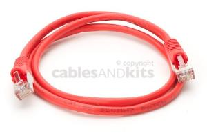 CAT5e Shielded Ethernet Patch Cable, Snagless, 3 Foot, Red