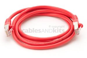 CAT5e Shielded Ethernet Patch Cable, Snagless, 6 Foot, Red