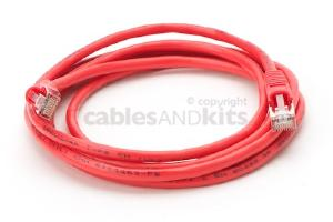 CAT5e Shielded Ethernet Patch Cable, Snagless, 7 Foot, Red