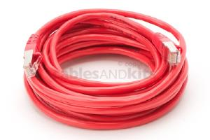 CAT5e Shielded Ethernet Patch Cable, Snagless, 20 Foot, Red
