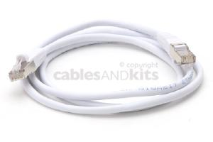 CAT5e Shielded Ethernet Patch Cable, Snagless, 4 Foot, White