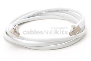 CAT5e Shielded Ethernet Patch Cable, Snagless, 5 Foot, White