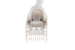 CAT5e Shielded Ethernet Patch Cable, Snagless, 10 Foot, White